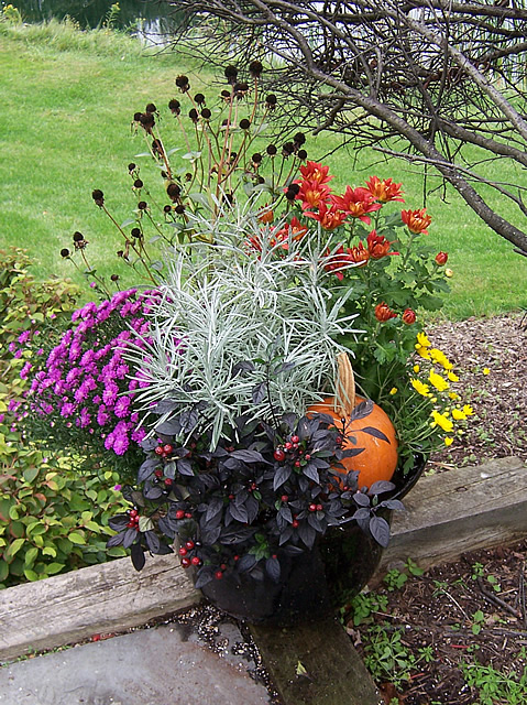 Mixed fall container