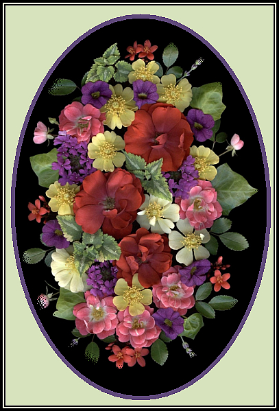 Mixed flower card