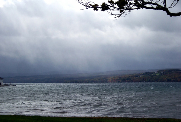 Canandaigua Lake rainstorm