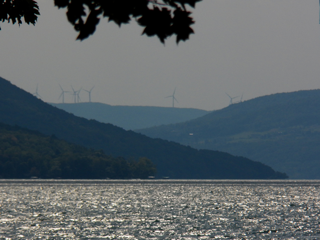Windmills at the south end of the lake